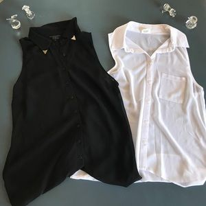 BLACK or WHITE guess bottom blouses!
